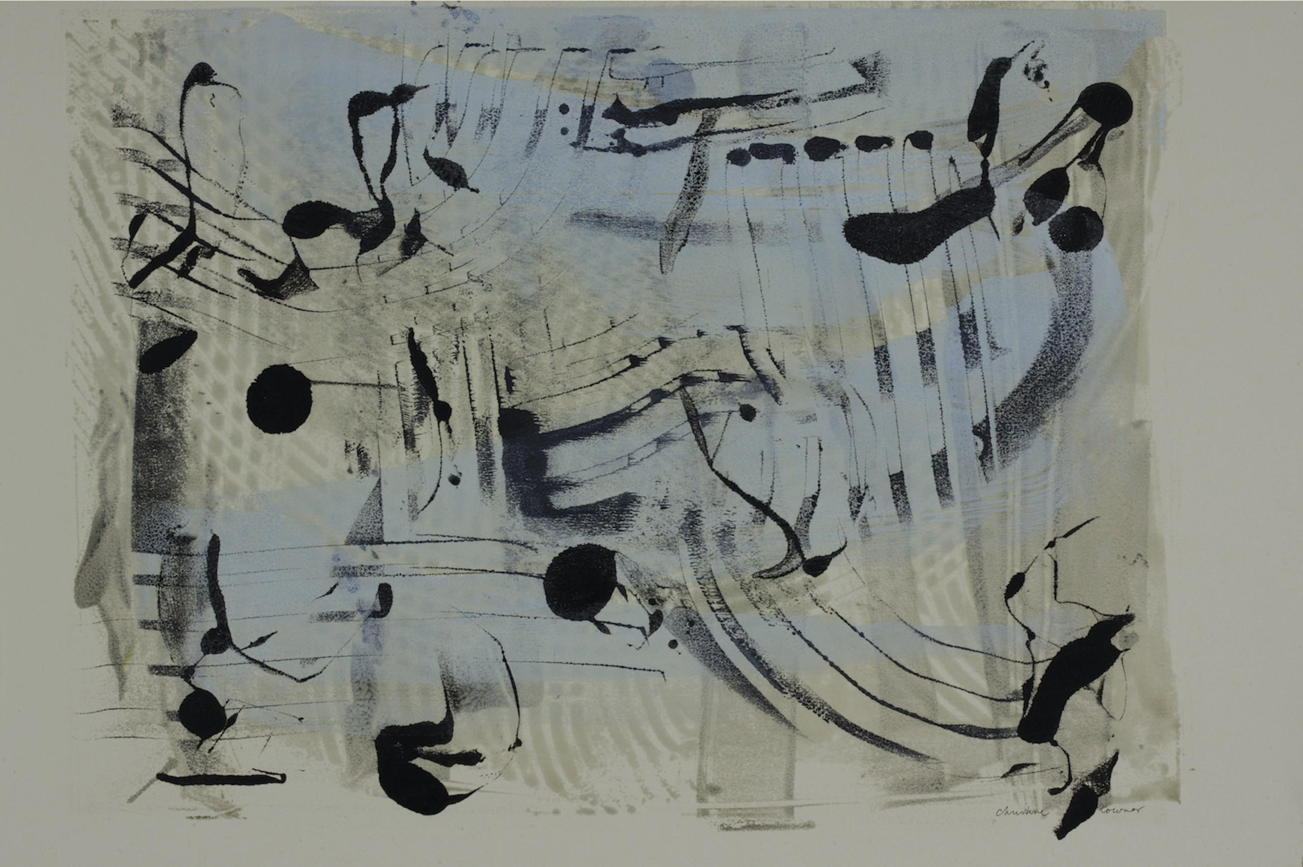 Bach, Encaustic on Rives Paper, 30.5