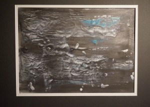 "Moonlit Waters, Encaustic on Kozo Paper with Graphite, 12"" x 18"", Price: $150"