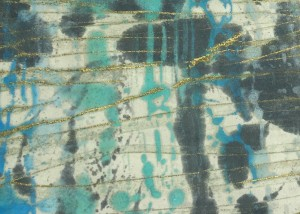 Snorkeling in the Caribbean, Encaustic on Japanese Paper, Price: $350