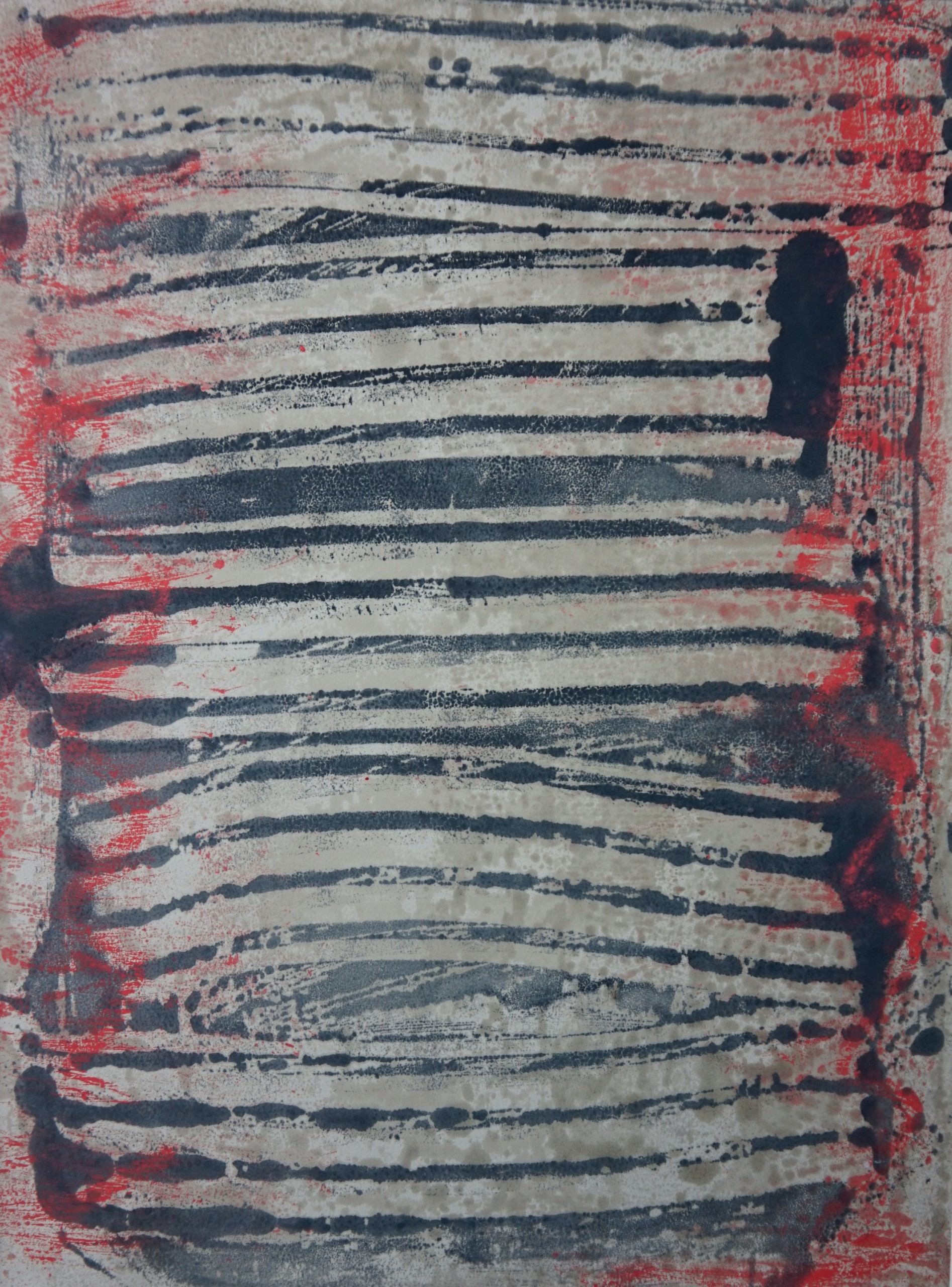 Untitled, Encaustic on Japanese Paper, 16